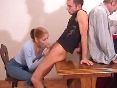 Redhead serbian mom with full tits