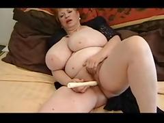 Fat granny masturbating porn tube video