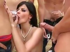 Alicia gang team fuck 5 men in forest glade tube porn video
