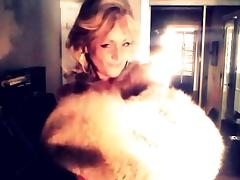 Sexy Woman showing off her Wolf Fur Coat! porn tube video