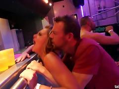 Slutty pornstars fuck in a club porn tube video