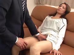 Japanese slut screaming like mad as she gets penetrated