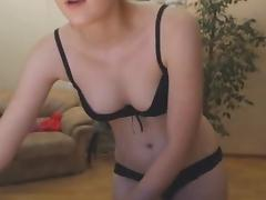 Cutue in dark underwear web camera show