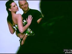 PINKO HD Threesome in Italian tube porn video
