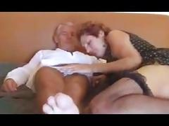 Mature couple - granny and grandpa having sex tube porn video