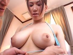 japanese slut has huge, floppy tits