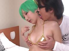 Japanese beauty with small tits cosplaying and having kinky sex porn tube video