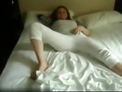 So sexy painted redhair girlfriend make a submissive hot blowjob in home porn tube video