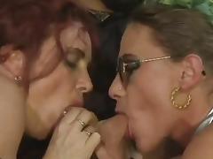 Bea Dumas&Carol Bentley - 3some with 2 boys