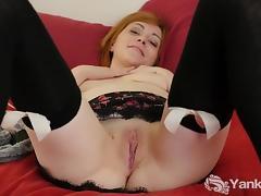 Stockinged Alana Masturbating Her Quim porn tube video