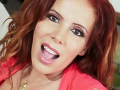 Thick redheaded MILF loves being plowed from behind porn tube video