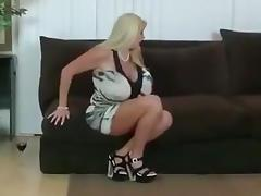 Busty Blonde MILFs Karen and Samantha Threesome