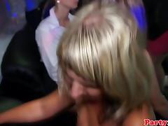 Amateur babe fucks stripper in real club porn tube video