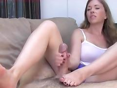 Handjob for NOT brother tube porn video