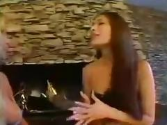 TS and girl 69 pose petting and fucking by the fireplace porn tube video