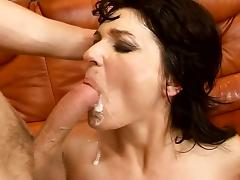 Milf tastes a young cock