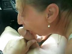Tender Blowjob in the Car