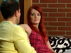 Redheaded beauty with very small tits fucked hardcore porn tube video