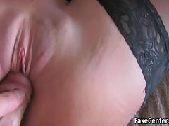 Foot jerking in stockings and fuck tube porn video