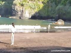 Bikini, Amateur, Beach, Bikini, Couple, Horny