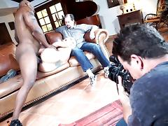 Big black cock drilling her wet twat in this must watch cuckold clip