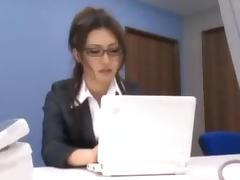 Pretty Asian slut gets fucked by many men