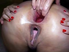 Daddy & His Cum Whore hard anal fist fuck cum
