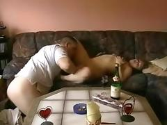 Horny couple on a sofa at home part.1 porn tube video