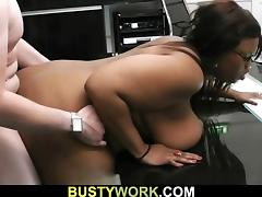 Black bbw takes it hard from behind