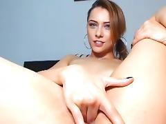 Cute Brunette From freecamgirl.eu Masturbating