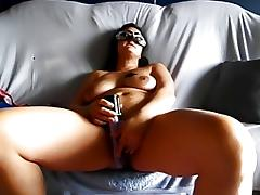 Homemade granny vid shows me play with a sex toy tube porn video