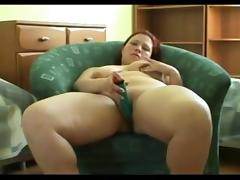 Horny fat BBW Ex GF masturbating her wet creamy Pussy porn tube video