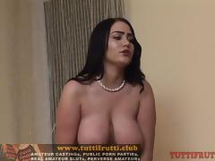 big tits debutante amateur model Caroline