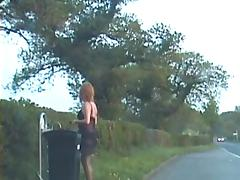 Amateur crossdresser in lingerie outdoors tube porn video