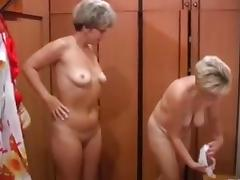 Russian moms Irina - Valia in the sauna