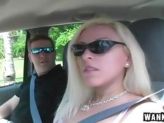Riding in the car and sucking dick with her talented mouth