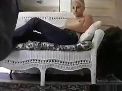 Petite white girl rides her black bf on the sofa and gets doggystyle fucked on the floor tube porn video