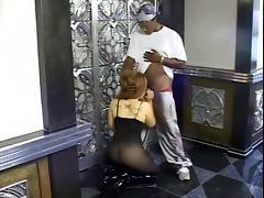 Randy chick sucking off black cock porn tube video
