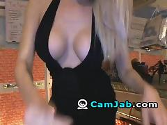 Gorgeous Blonde Babe Plays with her Dildo porn tube video