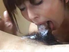 Nympho Asias mommy loves cum in her