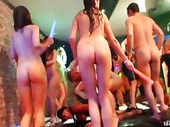 Lots of pussy pounding action in this wild club orgy