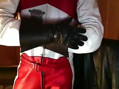 Leather Biker suit Dainese tube porn video