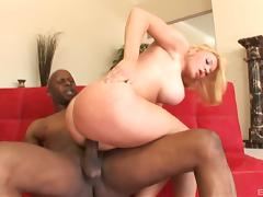 Krissy Lynn posing before enjoying a big black prick