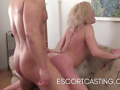 Casting Blonde Escort Gives Client Great GFE and PSE