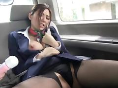 Compilation scenes of this kinky Japanese lady being horny and fucked hard