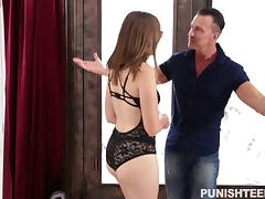 Insatiable bitch in glasses gets ass fucked in a hardcore threesome