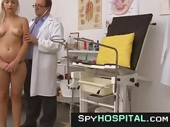Voyeur video of hot blonde obgyn exam