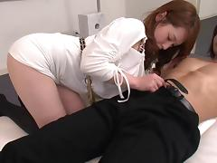 Gorgeous Japanese babe gets very naughty with her boyfriend