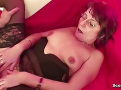Mother, Cum, Cumshot, German, HD, Mature