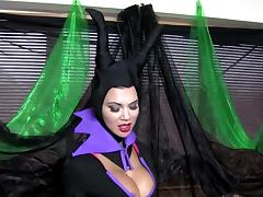 COSPLAY BABES Maleficent Playing Solo porn tube video